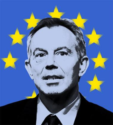 Así ve The Independent a Tony Blair como presidente europeo.